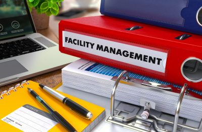 Red,Ring,Binder,With,Inscription,Facility,Management,On,Background,Of